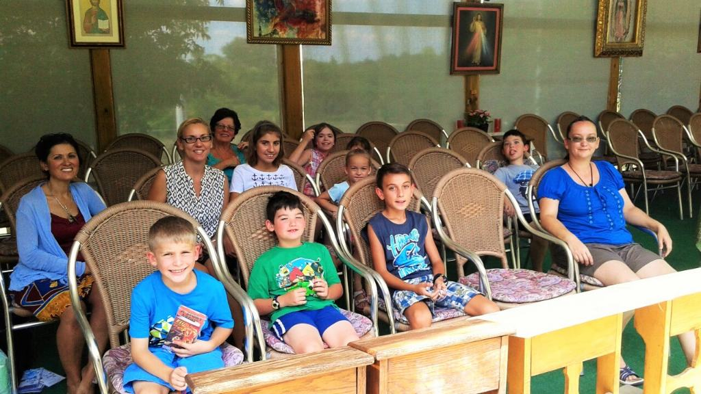 St. Jerome's Mothers group went on an outing to the Marian Shrine of Gratitude with their children