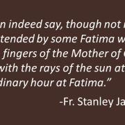 Fr. Stanley Jaki on the Fátima Miracle