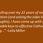 Catholic Parenting: What I\'ve Done Right