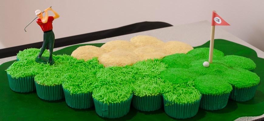 Golf Course Cupcake Cake