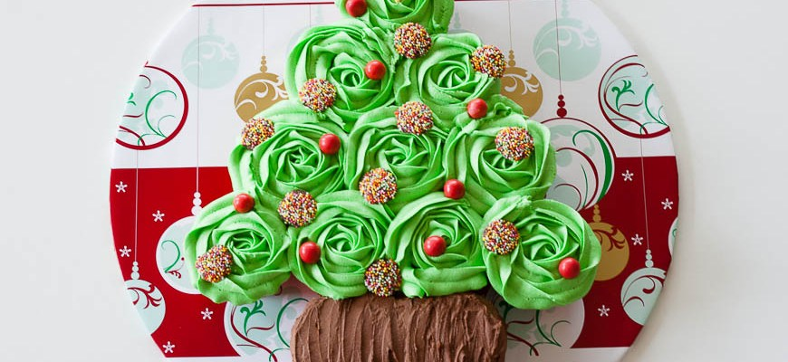 Christmas 2013 – Christmas Tree Cupcake Cake