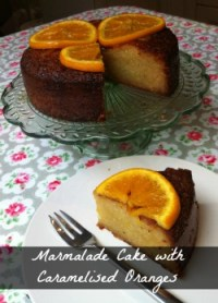 Marmalade Cake with Caramelised Oranges