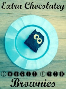 Extra Chocolatey Google Eyed Brownies