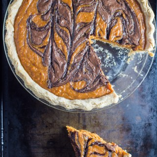 Nutella Swirled Sweet Potato Pie
