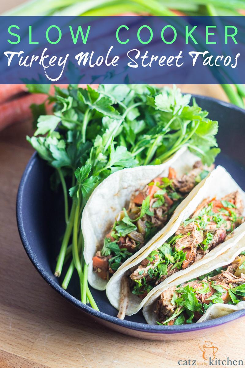 Slow-Cooker Turkey Mole Street Tacos