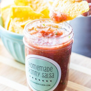 Homemade Skinny Salsa | Catz in the Kitchen | catzinthekitchen.com #salsa