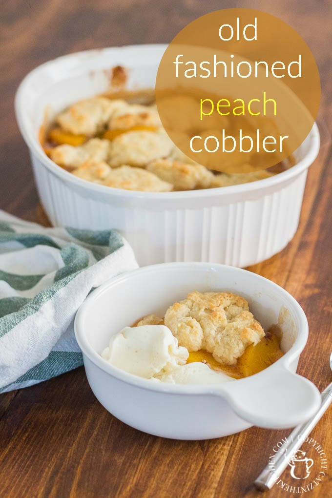 Old Fashioned Peach Cobbler is literally a recipe for comfort! This ...