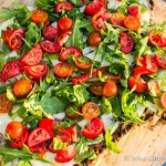 Tomato Salad Grilled Pizza