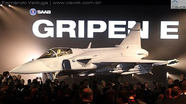 A estrela do Gripen Evolution, o Gripen E. (Foto: Fernando Valduga / Cavok)