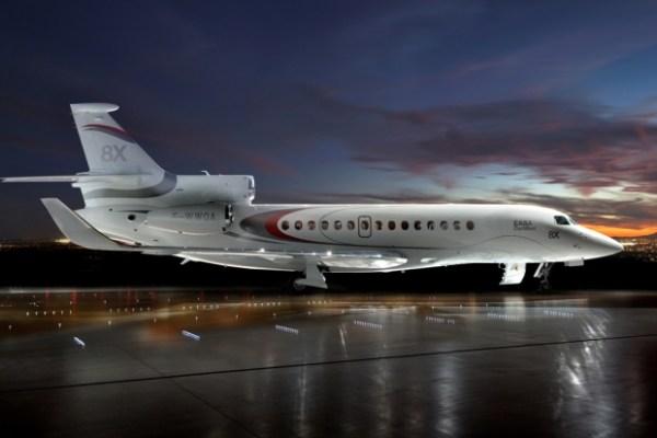 O Dassault 8X certificado pela EASA. (Foto: Dassault)