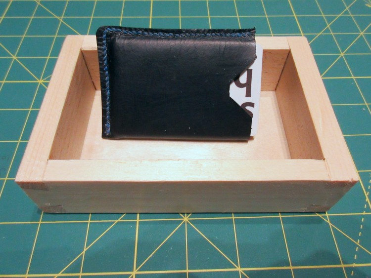 A day of Creativity, new wallet and my first-ever dovetailed box.