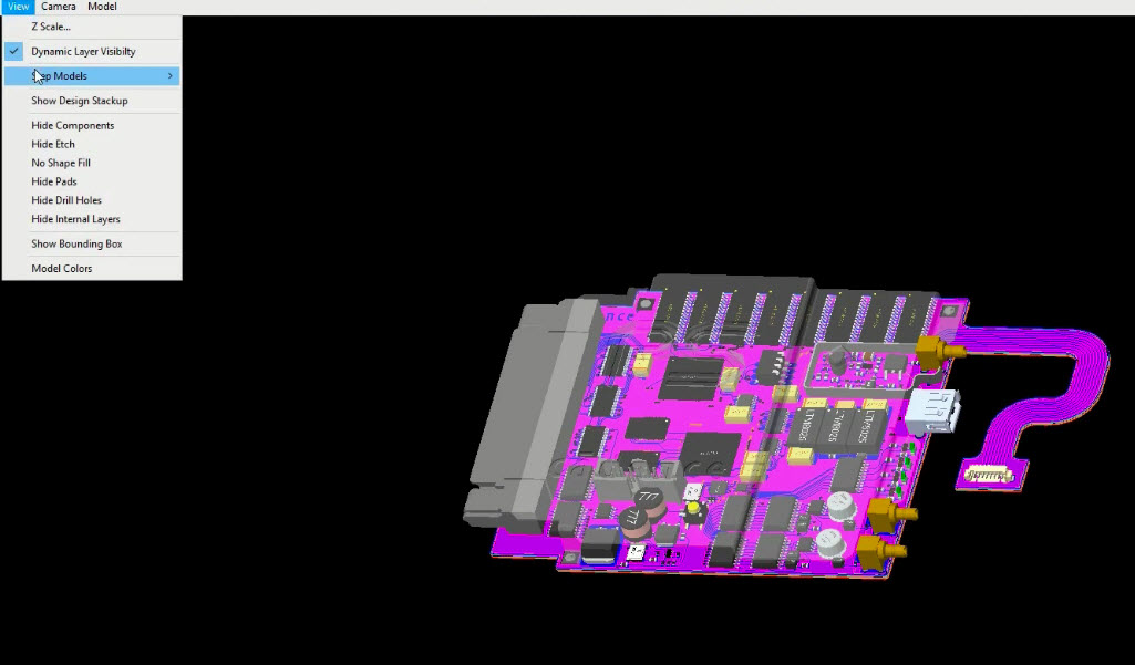 V17.2 PCB Editor 3D STEP