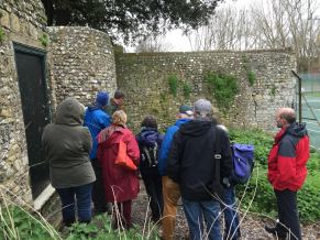 Examining Chichester's Roman walls with James Kenny