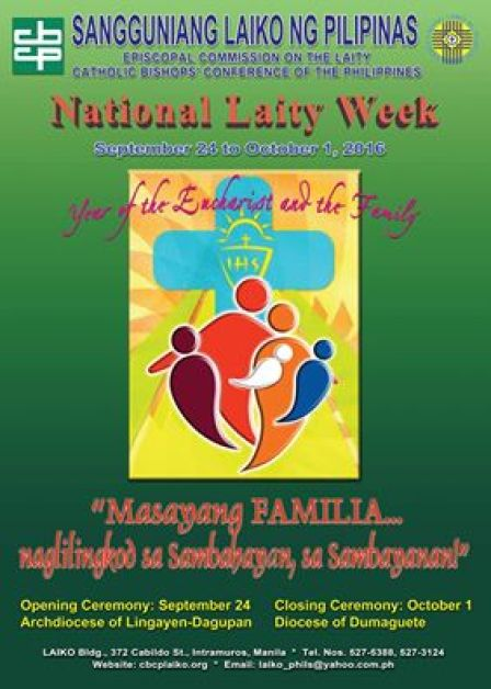 the filipino catholic laity The catholic bishops' conference of the philippines has issued a pastoral   integral faith formation (2013) the laity (2014) the poor (2015).