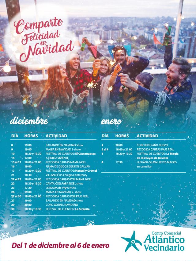 Actividades CC Atlántico Vecindario Navidad 2017