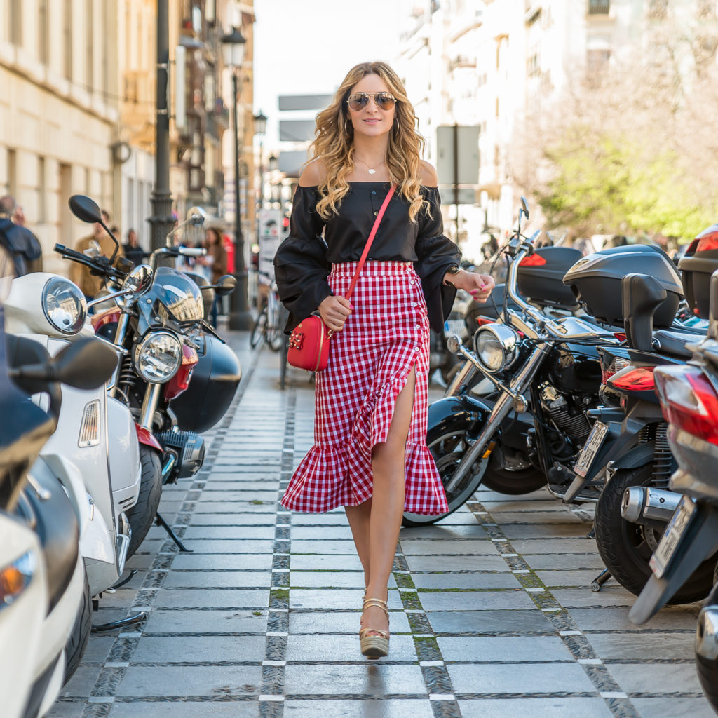 VICHY SKIRT AND SHIRT