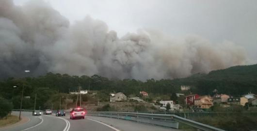 Incendio en las proximidades de Vigo