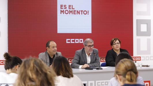 Carlos Bravo, Unai Sordo y Mari Cruz Vicente en la rueda de prensa