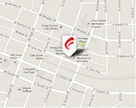 Map to Carrington Coleman's Longview office