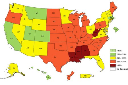 adult obesity prevalence maps | overweight & obesity | cdc