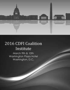 2016 CDFI Coalition Institute Agenda cover only