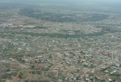 Aerial view of Chingola