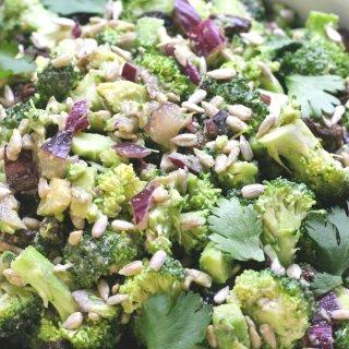Healthy Creamy Broccoli Salad Vegan