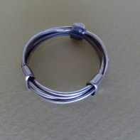 Wrapped Sterling Silver wire ring Width app 5 mm Size US 10