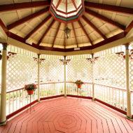 Cedar House Inn Wedding - gazebo