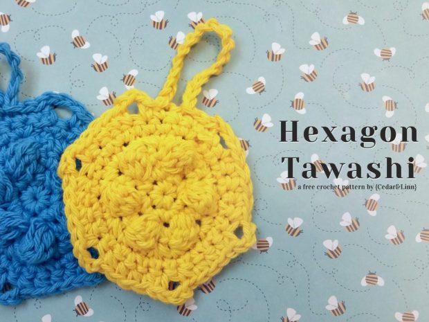 Free Crochet Pattern: Hexagon Tawashi