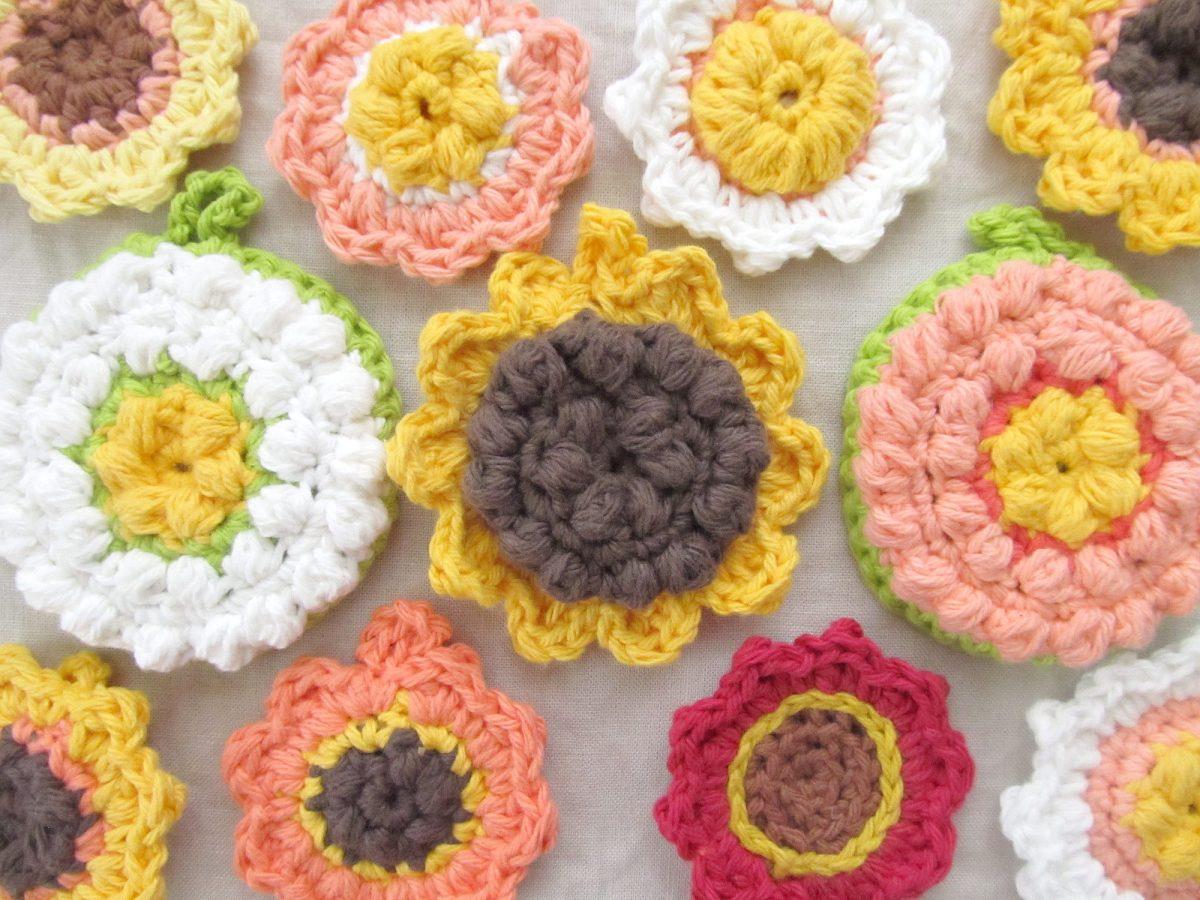 Crocheted Flower Tawashi