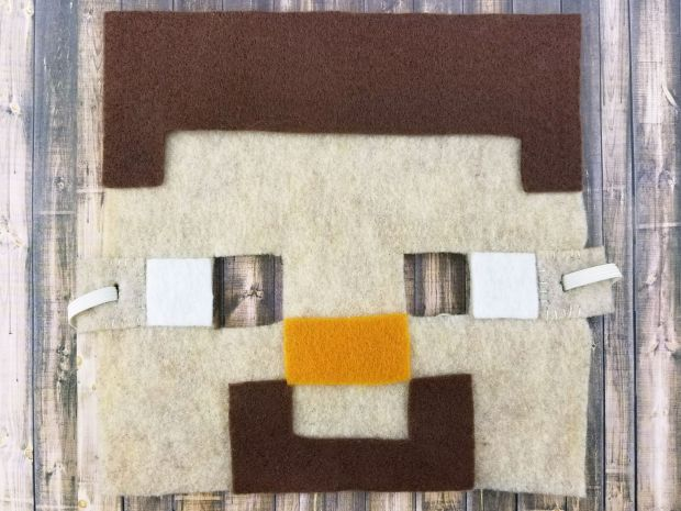 DIY Halloween Mask: Steve from Minecraft