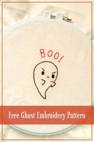 Boo! Embroider Design