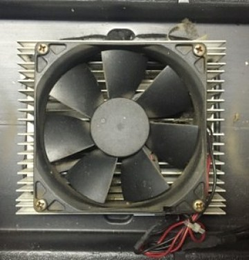 Overhead view of fan