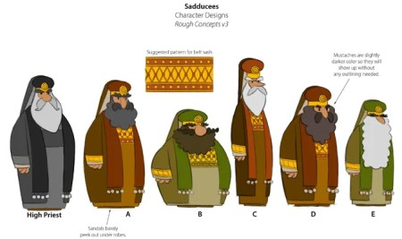 Animation Character Designs of Sadducees