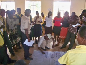 Participants in the Sexual Reproductive Health training during the life cycle mapping