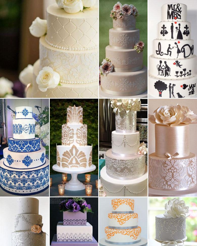 stencilled-wedding-cakes
