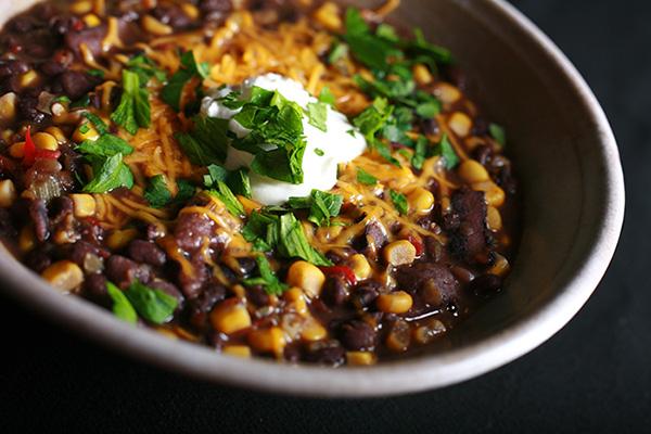 Paleo Chicken Corn Black Bean Soup