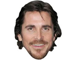 A Cardboard Celebrity Mask of Christian Bale