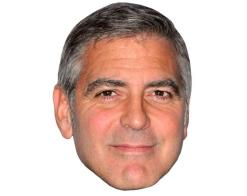 A Cardboard Celebrity Mask of George Clooney