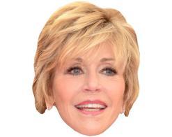 A Cardboard Celebrity Mask of Jane Fonda