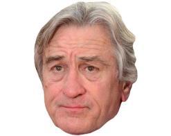 A Cardboard Celebrity Mask of Robert De Niro