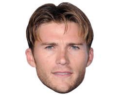 A Cardboard Celebrity Mask of Scott Eastwood