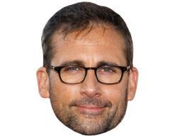 A Cardboard Celebrity Mask of Steve Carell