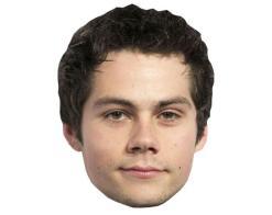 A Cardboard Celebrity Mask of Dylan O'Brien
