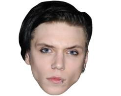 A Cardboard Celebrity Mask of Andy Biersack