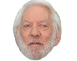A Cardboard Celebrity Mask of Donald Sutherland