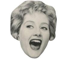 A Cardboard Celebrity Mask of Liz Fraser