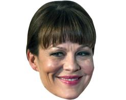 A Cardboard Celebrity Mask of Helen McCrory