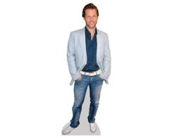 A Lifesize Cardboard Cutout of Jamie Bamber wearing jeans